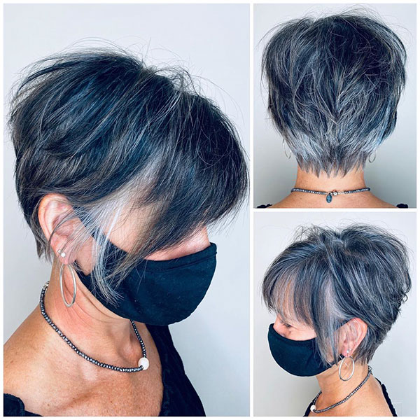Pictures Of Short Hairstyles With Lowlights